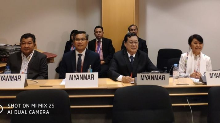 Myanmar Tripartite delegation to the 108th International Conference on 17 June 2019 in Geneva