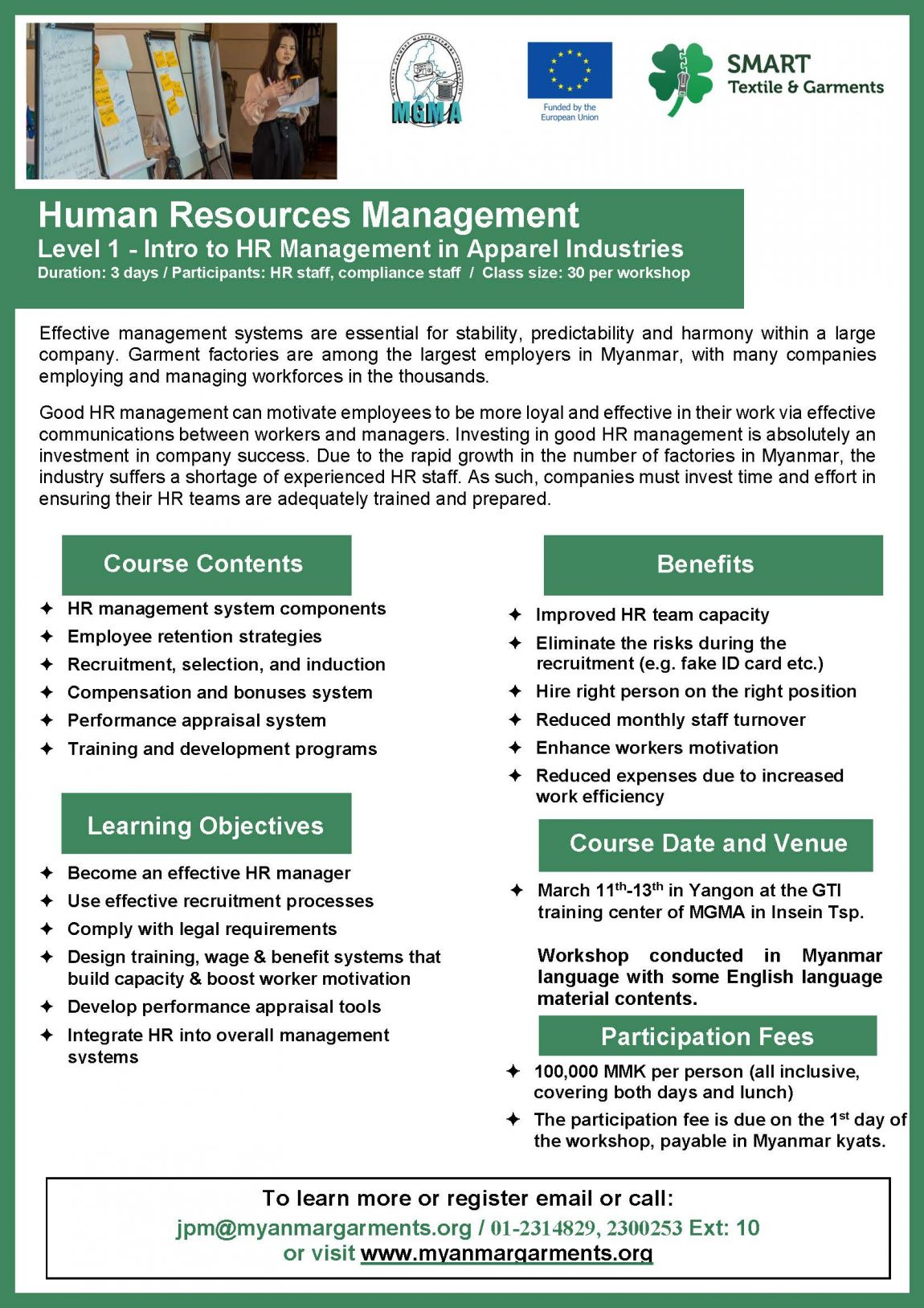 Human Resource Management Level -1 Intro to HR Management in Apparel Industries