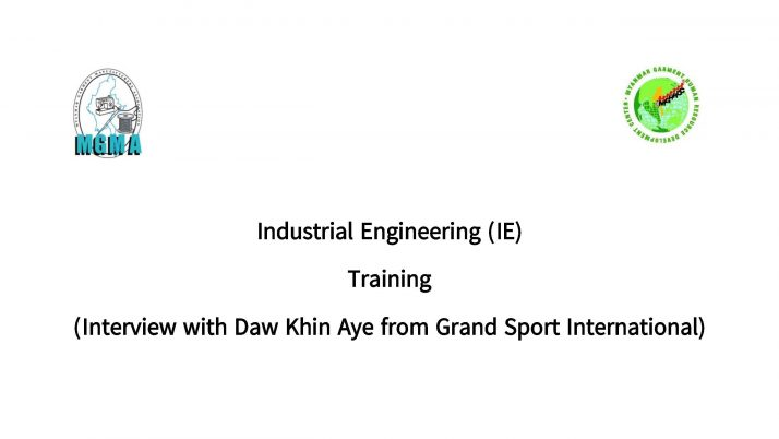 Industrial Engineering (IE) Training (Daw Khin Aye from Grand Sports International)